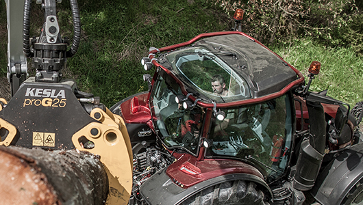 valtra tractor and twintrac wood
